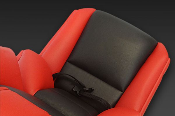 GS-Cobra motion simulator, 9 independant cushions for a V-shape bucket seat