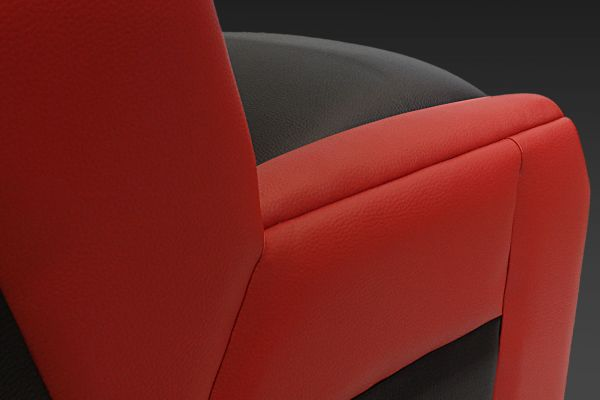 GS-Cobra motion simulator, entirely upholstered for a luxury finish