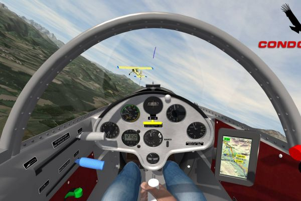 Condor Soaring Simulator, supported by GS-Cobra motion simulator