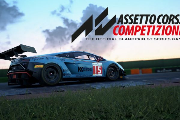 Assetto Corsa Competizione, supported by GS-Cobra motion simulator