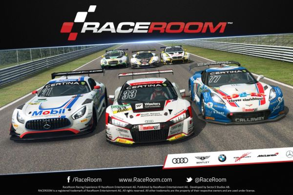 RaceRoom, supported by GS-Cobra motion simulator