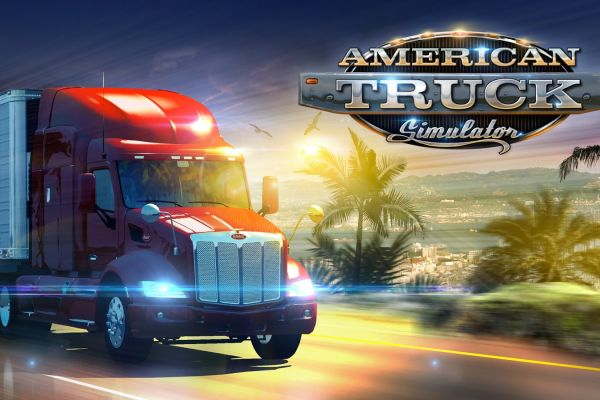 American Truck Simulator, supported by GS-Cobra Motion Simulator